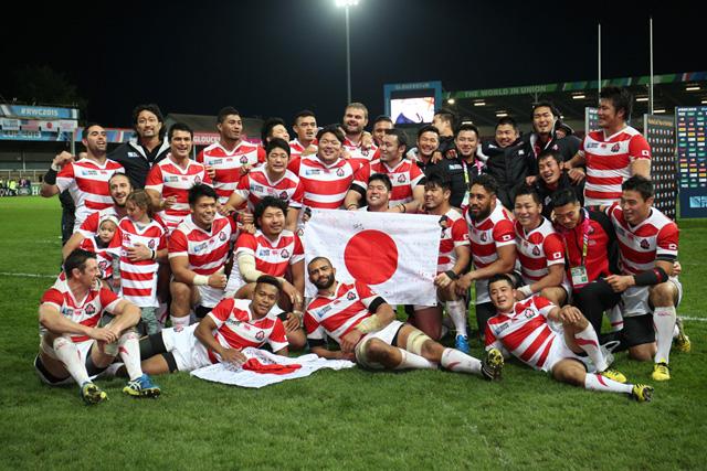 RWC2015で活躍した日本代表選手のうち28人がトップリーグチームに所属している photo by Kenji Demura